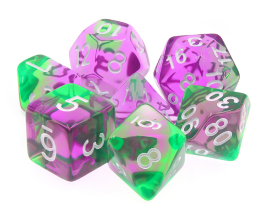 Dargon's Dice: Faerie Fire Set 16mm (7)