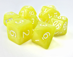 Dargon's Dice: Golden Charm Set 16mm (7)