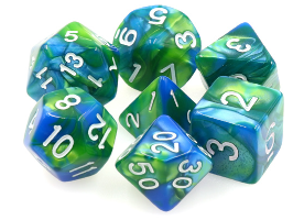 Dargon's Dice: Siren's Call Set 16mm (7)