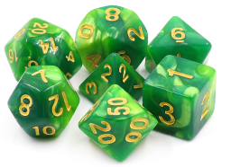 Dargon's Dice: Lich's Aura Set 16mm (7)