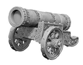 WizKids Deep Cuts Unpainted Miniatures: Large Cannon