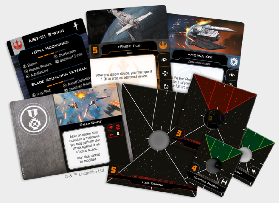 X-Wing 2.0: Hotshots and Aces Reinforcements Pack