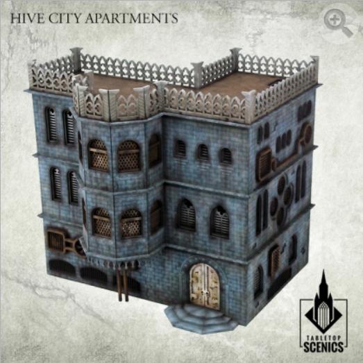 Kromlech Tabletop Scenics: Hive City Apartments