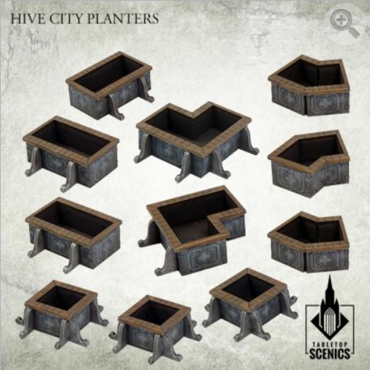 Kromlech Tabletop Scenics: Hive City Planters