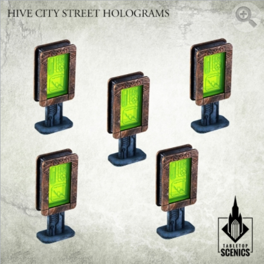 Kromlech Tabletop Scenics: Hive City Street Hologram