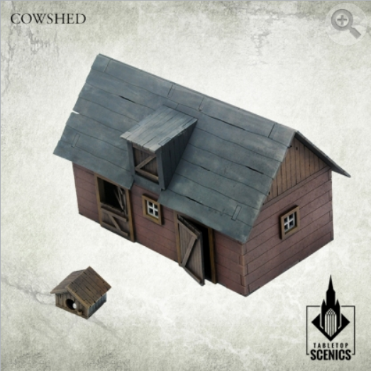 Kromlech Tabletop Scenics: Poland 1939 Cowshed