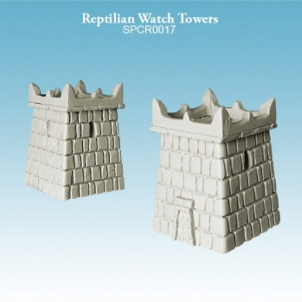 Argatoria 10mm scale - Reptilian Watch Towers (2)