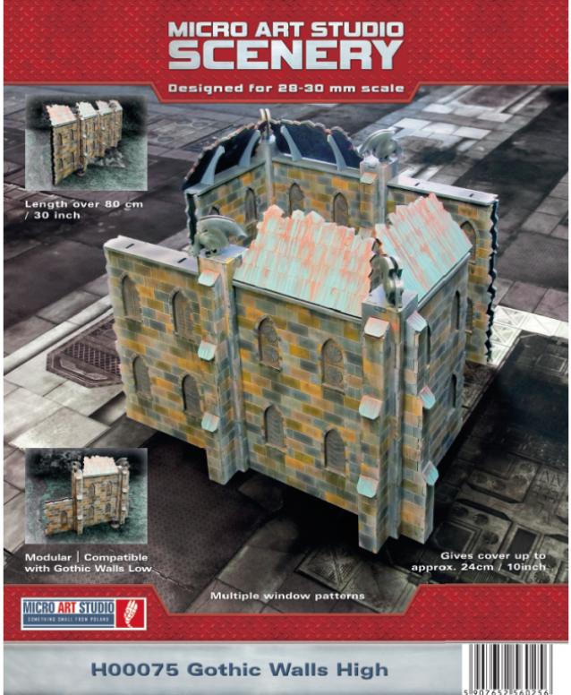 Miniature Terrain: Gothic Walls High