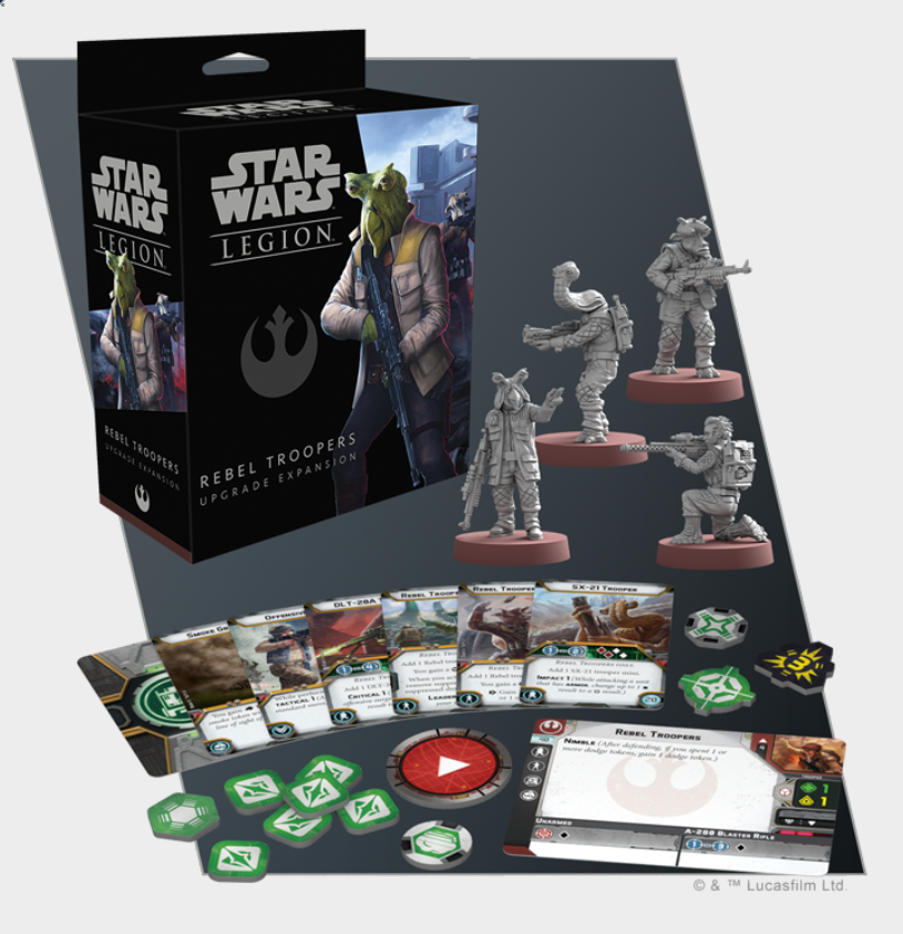 Star Wars: Legion - Rebel Troopers Upgrade Expansion