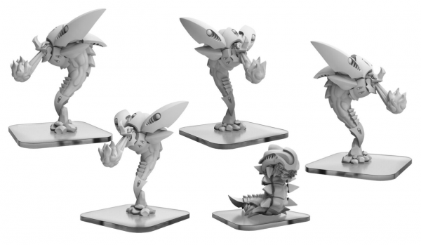 Monsterpocalypse: Scorchers, Elite Scorcher, Exterminatrix – Planet Eater Units (metal/resin)