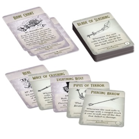 Kings of War: 3rd Edition -  Spell & Artefact Cards