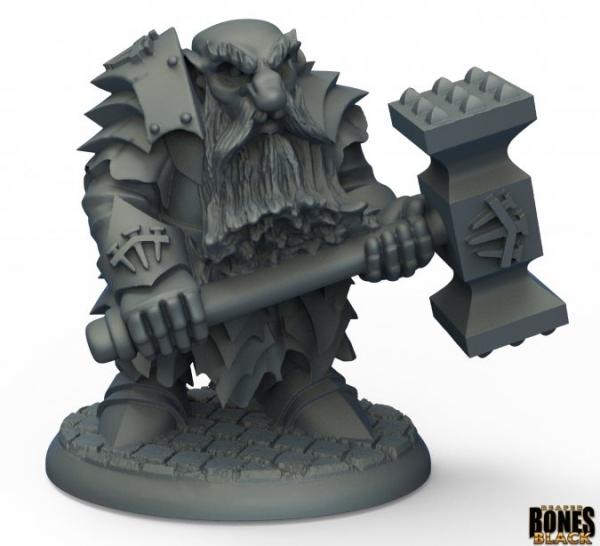 Reaper Bones Black: Dark Dwarf Pounder