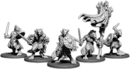 Darklands: Eoric's Pack, Werwulf Unit (5x warriors w/cmd) (resin)