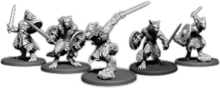 Darklands: Eoric's Pack, Werwulf Unit (5x warriors) (resin)
