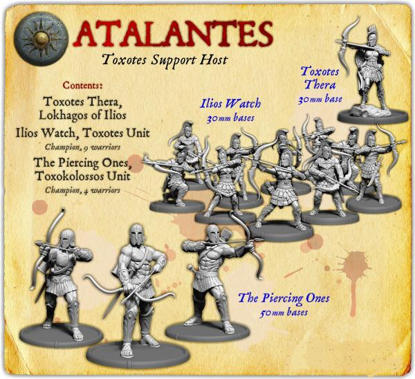 Darklands:   Atalantes Toxotes Support Starter Host (resin)