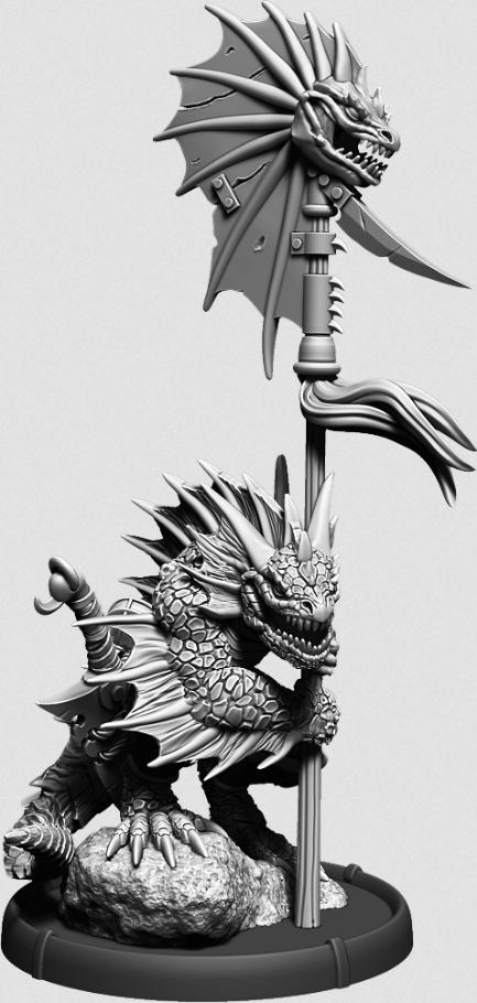Darklands: Eikovra, Ikon Warrior on Foot (resin)
