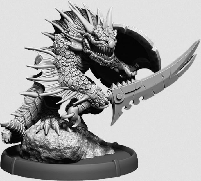 Darklands: Warrior Eikovra, Sávrarch on Foot (resin)