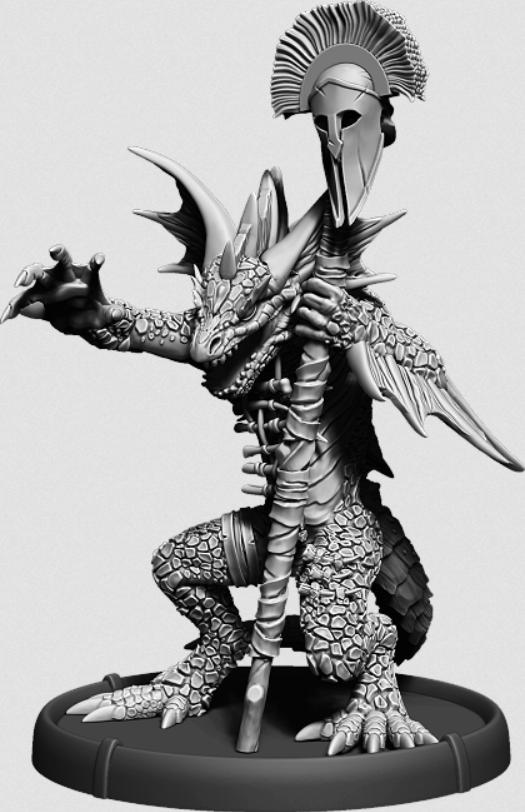 Darklands:   Myrkranio, Bone Warrior (resin)