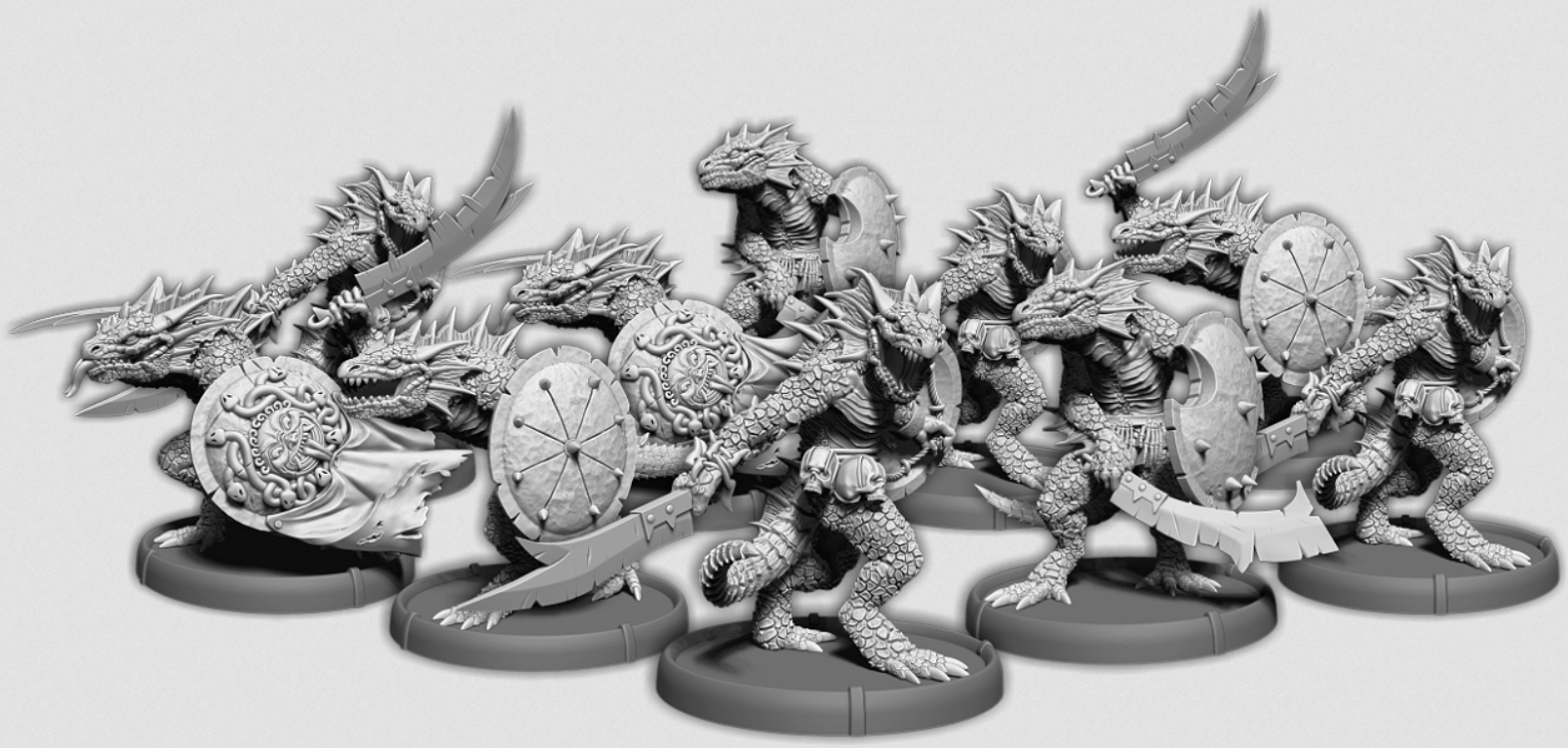 Darklands:   Gukkok's Blades, Sávrar Unit (10x warriors) (resin)