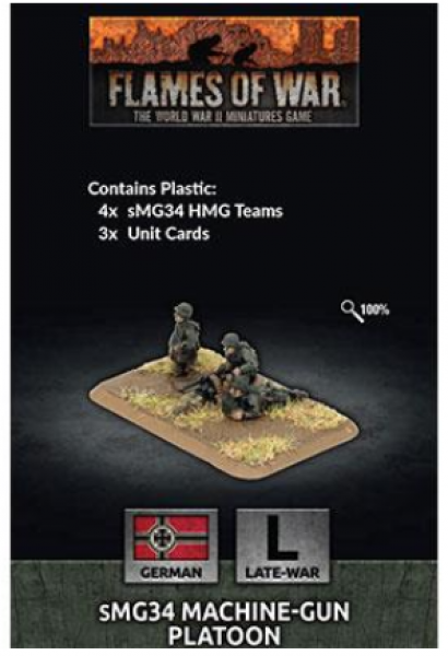 Flames of War: (German) MG34 Machine-gun Platoon (x4 Plastic)