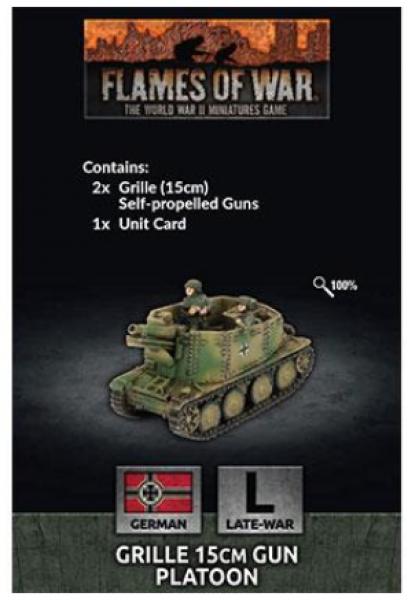 Flames of War: (German) Grille 15cm Gun Platoon (x2)