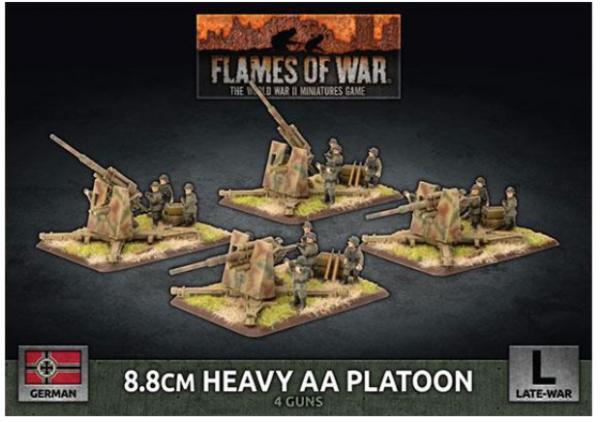 Flames of War: (German) 8.8cm Heavy AA Platoon (x4 Plastic)