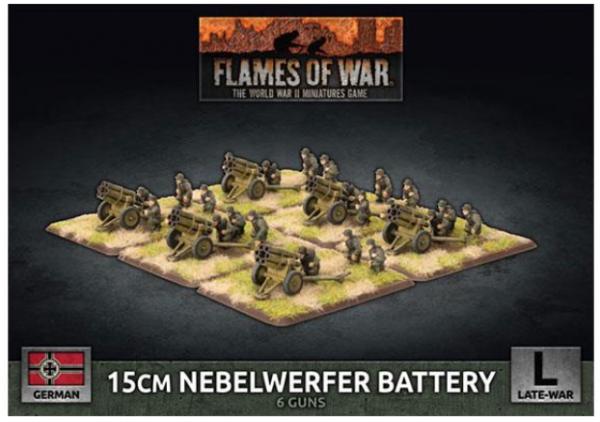 Flames of War: (German) 15cm Nebelwerfer Battery (x6 Plastic)