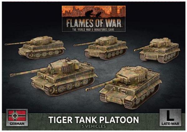 Flames of War: (German) Tiger Heavy Tank Platoon (x5 Plastic)