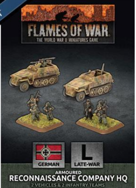 Flames of War: (German) Armoured Reconnaissance Company HQ (x2 Plastic)