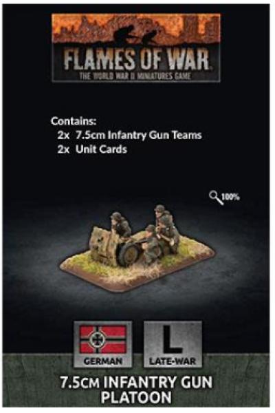 Flames of War: (German) 7.5cm Infantry Gun Platoon (x2)