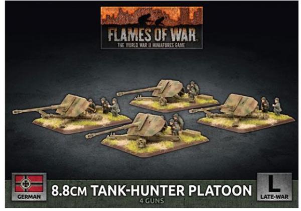 Flames of War: (German) 8.8cm Tank-Hunter Platton (x4 Plastic)