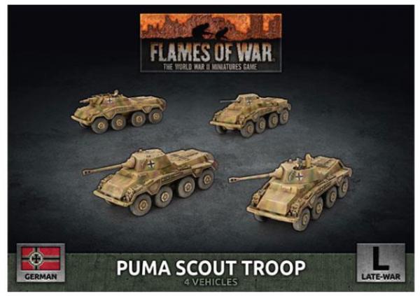 Flames of War: (German) Puma Scout Troop (x4 Plastic)