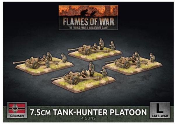 Flames of War: (German) 7.5cm Tank Hunter Platoon (x4 Plastic)