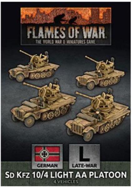 Flames of War: (German) SdKfz 10/4 Light AA Platoon (x4 Plastic)