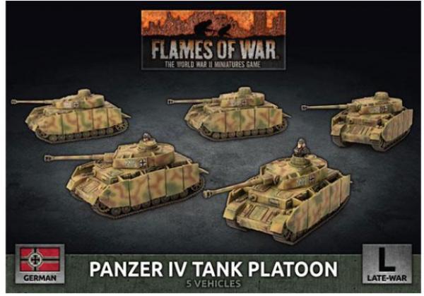 Flames of War: (German) Panzer IV Platoon (x5 Plastic)