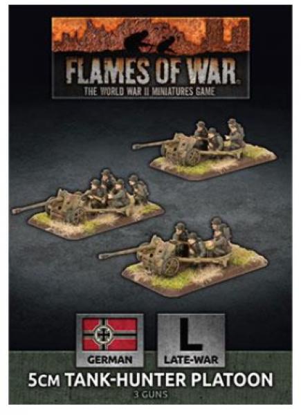 Flames of War: (German) 5cm Tank Hunter Platoon (x3 Plastic)