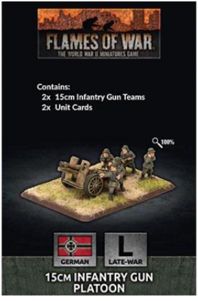 Flames of War: (German) 15cm Infantry Gun Platoon (x2)