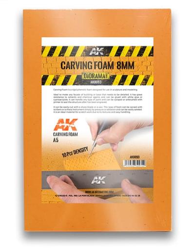 AK-Interactive: Carving Foam 8mm (A5 size)