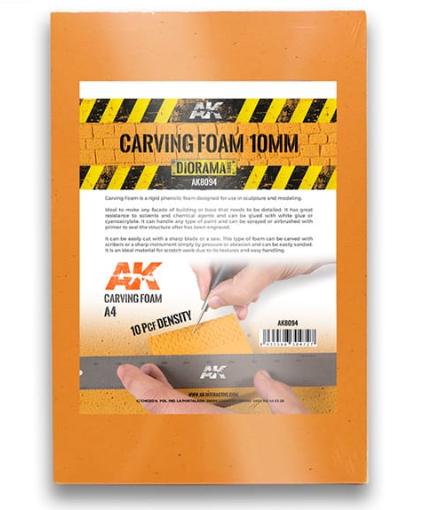 AK-Interactive: Carving Foam 10mm (A4 size)