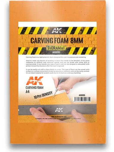 AK-Interactive: Carving Foam 8mm (A4 size)