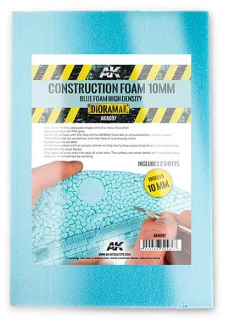 AK-Interactive: Blue High Density Construction Foam 10mm (2 sheets)