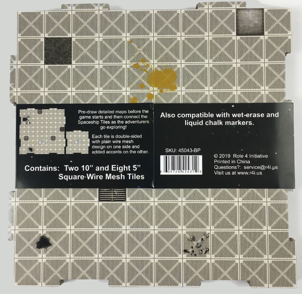 Dry Erase Dungeon Tiles: Booster Pack - Wire Mesh