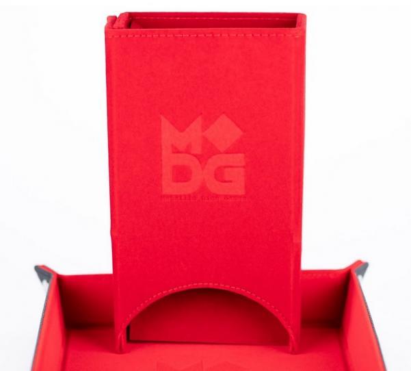 Fold Up Velvet Dice Tower - Red
