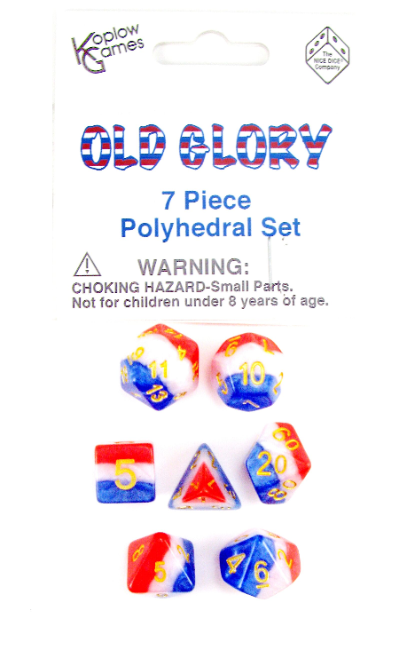 Layered Dice: Old Glory (7-die set)