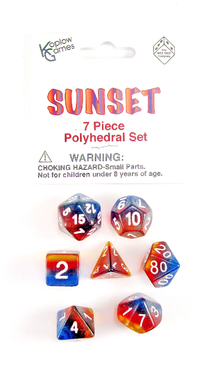 Layered Dice: Sunset (7-die set)