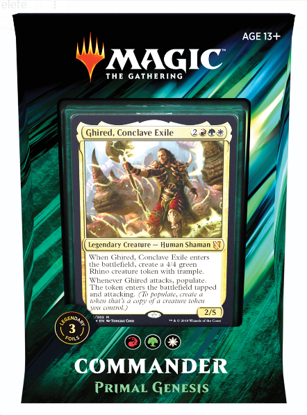Magic the Gathering: Commander Deck 2019 - Primal Genesis