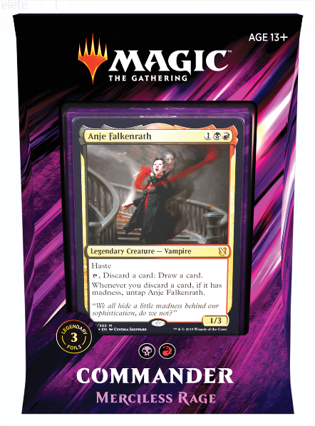 Magic the Gathering: Commander Deck 2019 - Merciless Rage