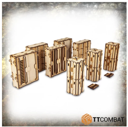 28mm Terrain: (Industrial Hive) Iron Labyrinth High Walls