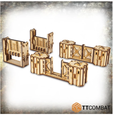 28mm Terrain: (Industrial Hive) Iron Labyrinth Doors