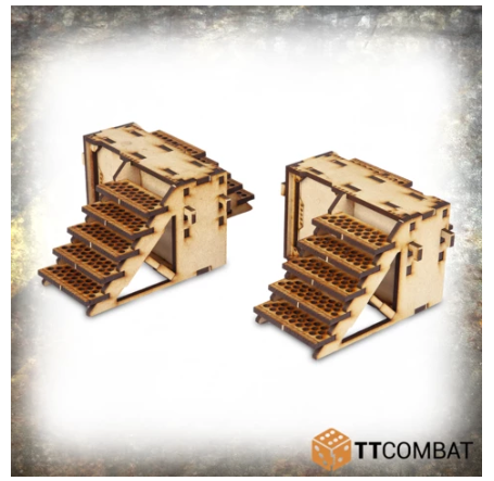 28mm Terrain: (Industrial Hive) Iron Labyrinth Stairs
